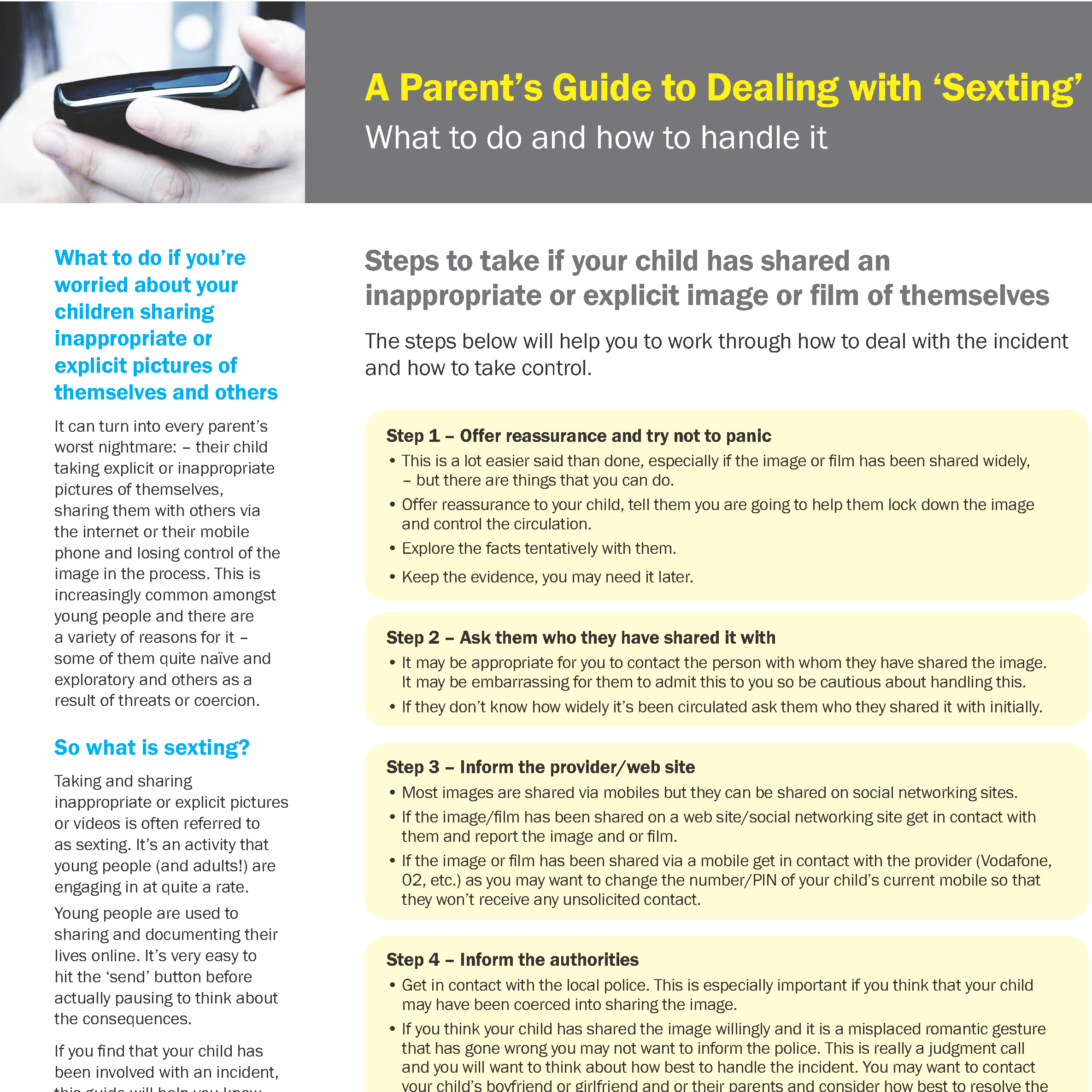 A Parents Guide to Dealing with Sexting 26SEP13 Page 1
